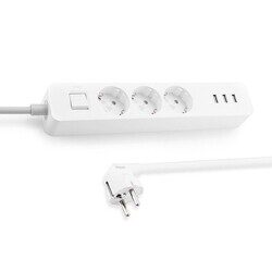Удлинитель Mi USB Power Strip white (3 розетки + 3 USB)